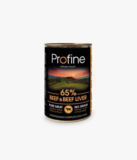 PROFINE lata de Buey e higado de buey-6x400gr