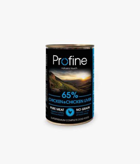 PROFINE lata de Pollo e higado de pollo-6x400gr