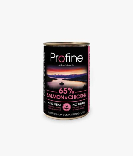 PROFINE lata de Salmon y Pollo-6x400gr