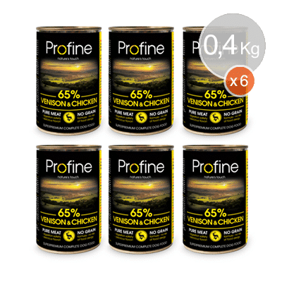 Profine-lata-Venado-y-Pollo-6x400gr