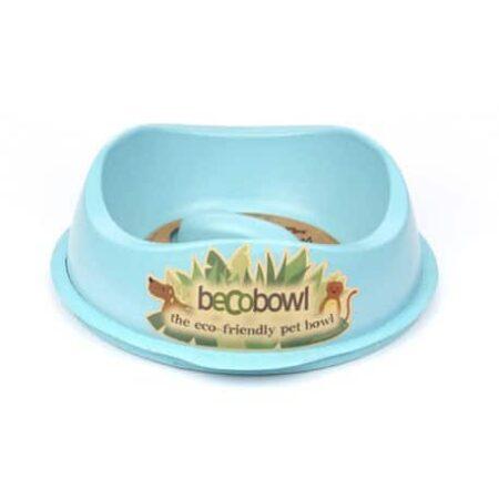 comedero anti ansiedad beco bowl azul